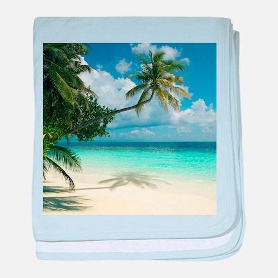 Tropical beach - Baby Blanket