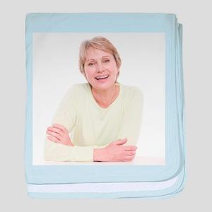 Smiling senior woman - Baby Blanket