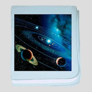 Artwork of the solar system - Baby Blanket