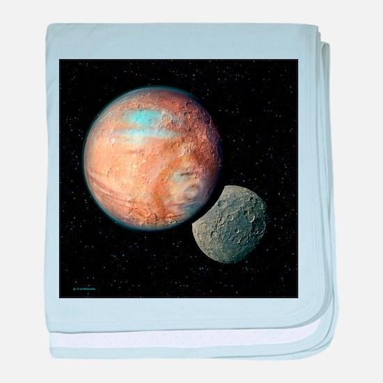 Pluto and Charon - Baby Blanket