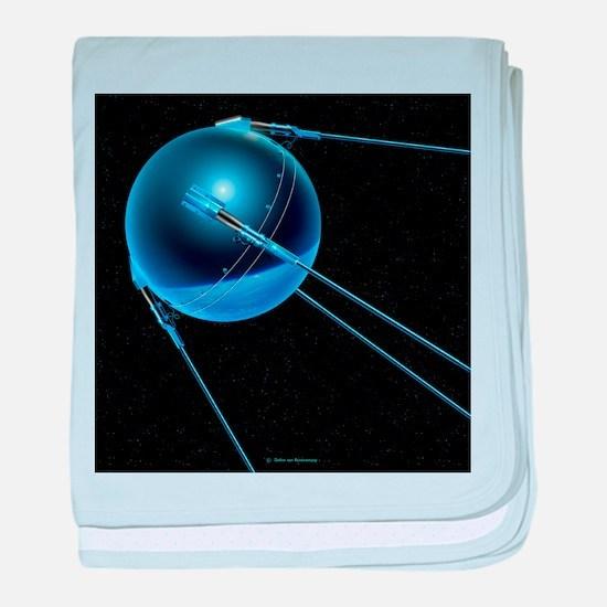 Sputnik 1 satellite - Baby Blanket