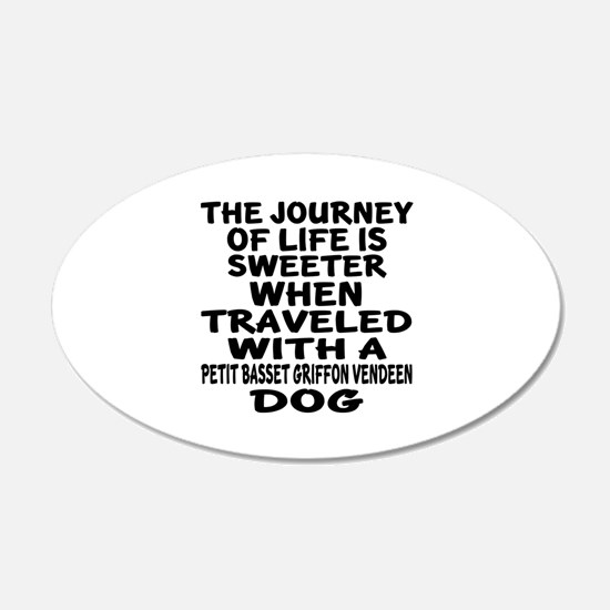 Traveled With petit basset g Wall Decal