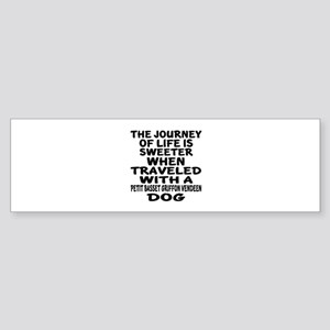 Traveled With petit basset griffo Sticker (Bumper)
