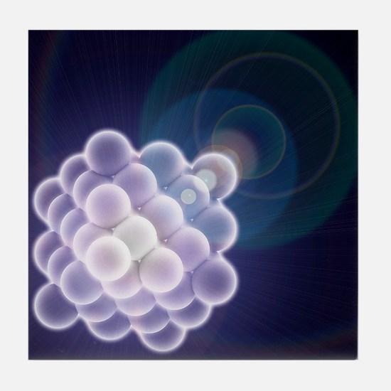 Platinum crystal, molecular model - Tile Coaster