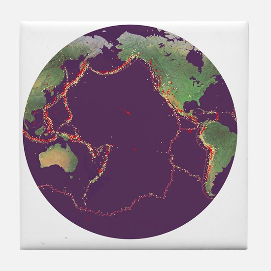 Pacific Ring of Fire - Tile Coaster
