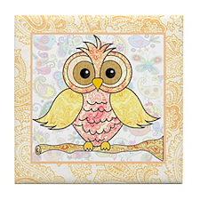Paisley Owl Tile