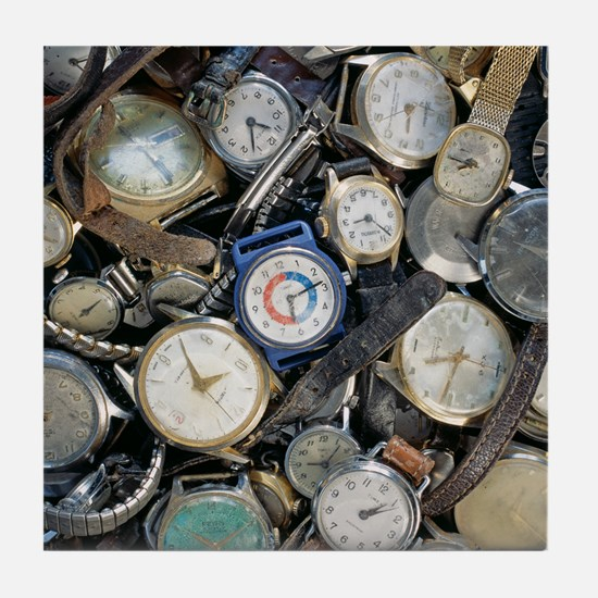 Broken wrist-watches - Tile Coaster