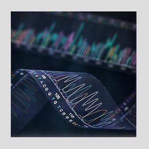DNA analysis - Tile Coaster