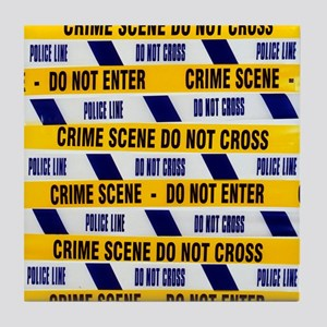 Crime scene tape - Tile Coaster