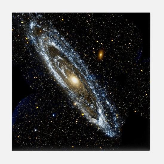 Andromeda Galaxy, UV image - Tile Coaster