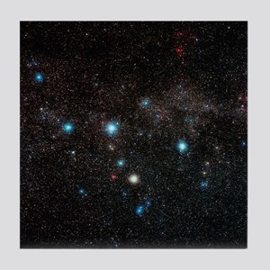 Cassiopeia constellation - Tile Coaster