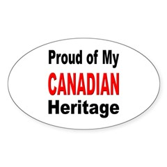 Proud Canadian Heritage Oval Decal