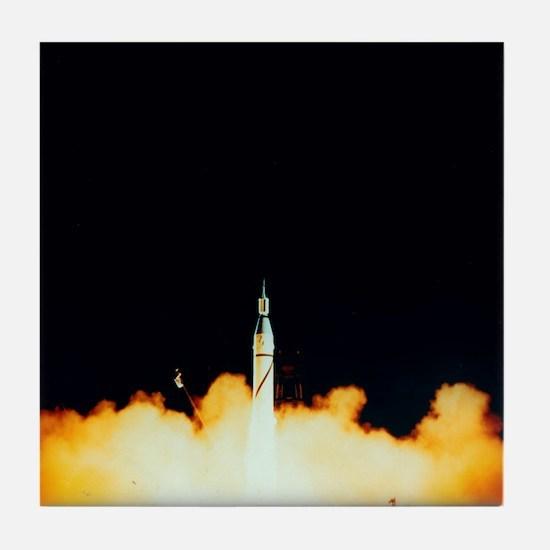 Explorer 1 launch - Tile Coaster