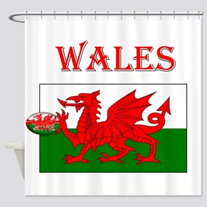 Wales Rugby Shower Curtain