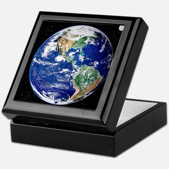 Earth from space, satellite image - Keepsake Box