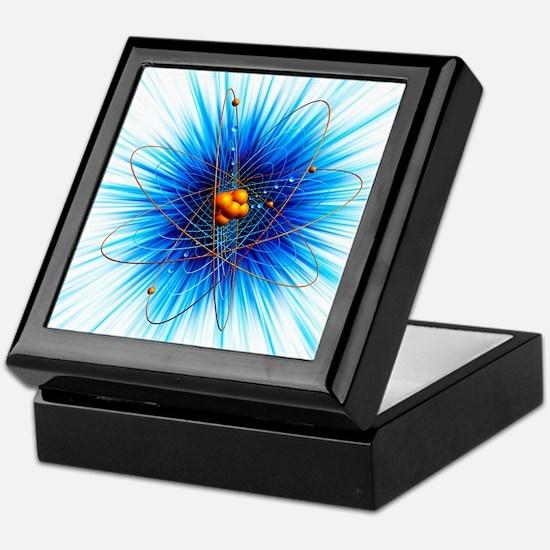 Atomic structure, artwork - Keepsake Box