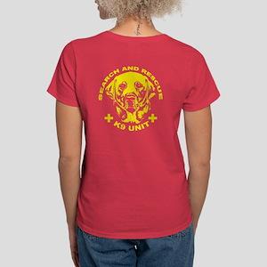 K9 unit yellow Women's Dark T-Shirt