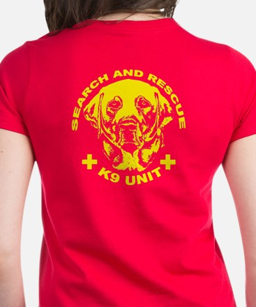 K9 unit yellow Women's Dark T-Shirt