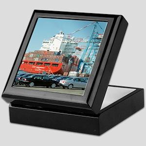 Container ship - Keepsake Box
