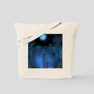 Old Graveyard Apparition Tote Bag