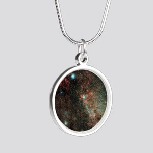Milky Way in Cygnus - Silver Round Necklace