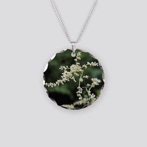 Artemisia flowers - Necklace Circle Charm