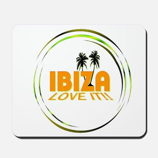 Ibiza I Love It Art Illustration Mousepad