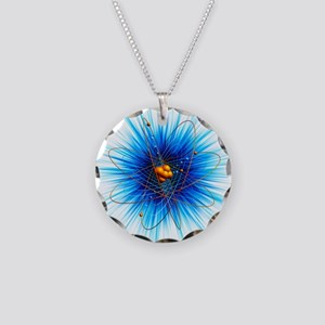 Atomic structure, artwork - Necklace Circle Charm
