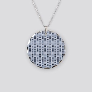 DNA sequences - Necklace Circle Charm