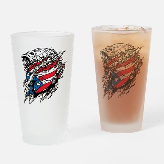 American Angler Drinking Glass
