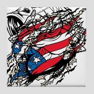 American Angler Tile Coaster
