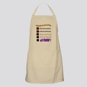 Things to do today Apron