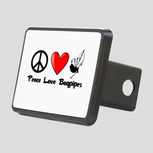 Peace, Love, Bagpipes Hitch Cover