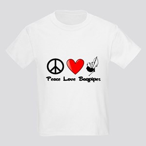 Peace, Love, Bagpipes T-Shirt