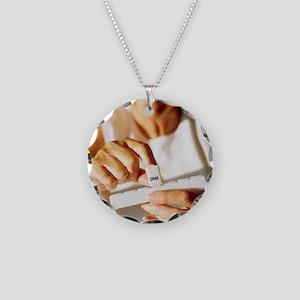 Pill box - Necklace Circle Charm