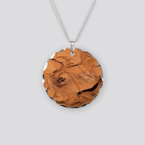Clovis rock, Mars - Necklace Circle Charm