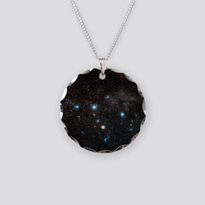 Cassiopeia constellation - Necklace Circle Charm
