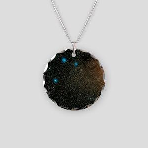Sagittarius stars - Necklace Circle Charm