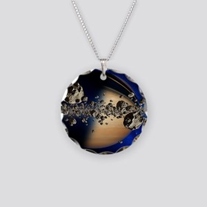 Saturn's ring system - Necklace Circle Charm