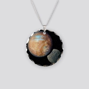 Pluto and Charon - Necklace Circle Charm