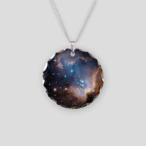 Starbirth region NGC 602 - Necklace Circle Charm