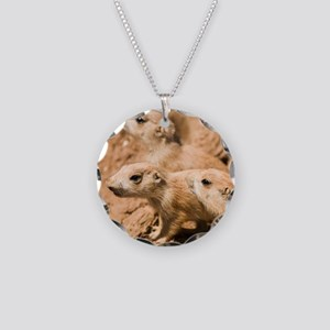 Black-tailed prairie dogs - Necklace Circle Charm