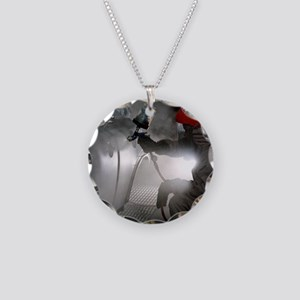 Spray painting a car - Necklace Circle Charm