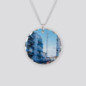 Mobile phone mast - Necklace Circle Charm