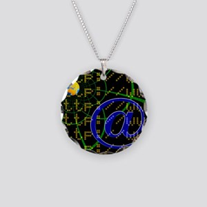WWW and e-mail - Necklace Circle Charm