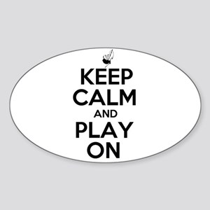 Keep Calm and Play On Bagpipe Sticker