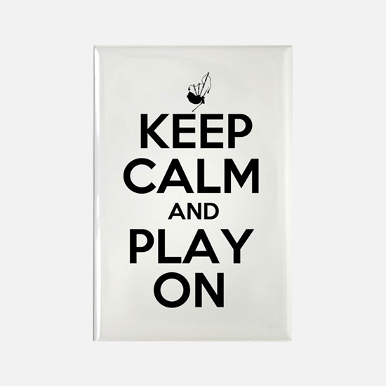 Keep Calm and Play On Bagpipe Rectangle Magnet