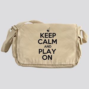 Keep Calm and Play On Bagpipe Messenger Bag