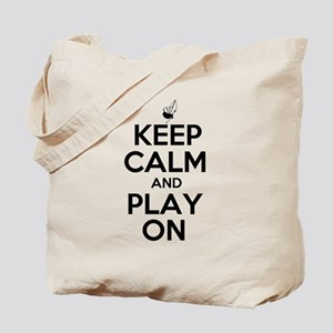 Keep Calm and Play On Bagpipe Tote Bag