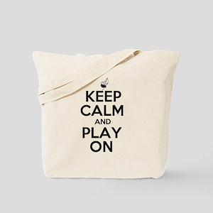 Keep Calm and Play On Bagpipe Tote Bag